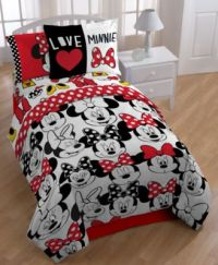 """Disney's Minnie Mouse """"Who"""" Twin/Full Comforter Set - Bed ..."""