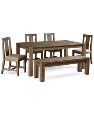 dining table set 6 chairs wobble chair furniture canyon piece created for macy s 72
