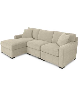 macy s sectional sofa brown corduroy sleeper furniture radley 3 piece fabric chaise created for