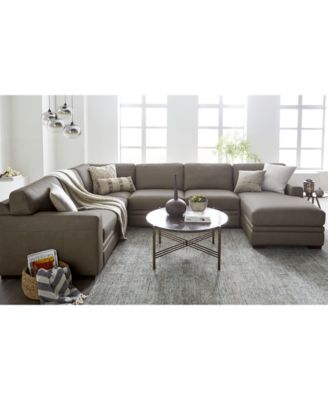 macy s sectional sofa skyline dfs furniture avenell 3 pc leather with full sleeper chaise created for
