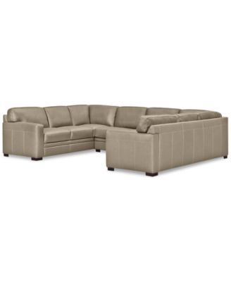 sofa pit couch mattress bed cover furniture avenell 3 pc leather sectional with loveseat created for macy s