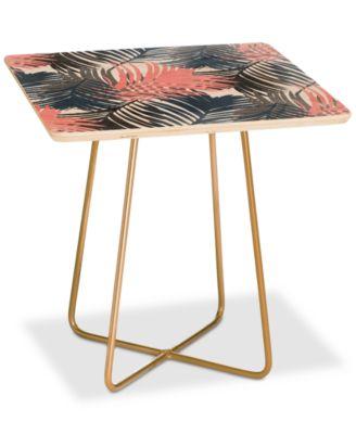 emanuela carratoni pattern jungle square side table
