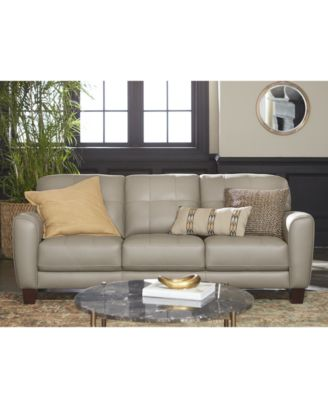 tufted brown leather sofa beds small furniture kaleb collection created for macy s