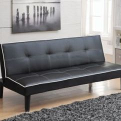 Contemporary Leather Sofa Bed Black Vinyl Futon Coaster Home Furnishings Eastchester Faux