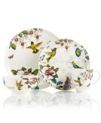 CLOSEOUT! Portmeirion Dinnerware, Botanic Hummingbird ...