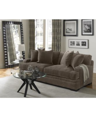 sofas at macys scafati fabric and leather corner sofa furniture closeout teddy 91 created for macy s