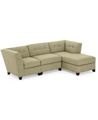 Harper Fabric 3 Piece Modular Chaise Sectional Sofa
