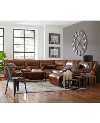 leather sectional sofas delaney sofa sleeper reviews furniture closeout beckett 6 pc with chaise console and 2 power