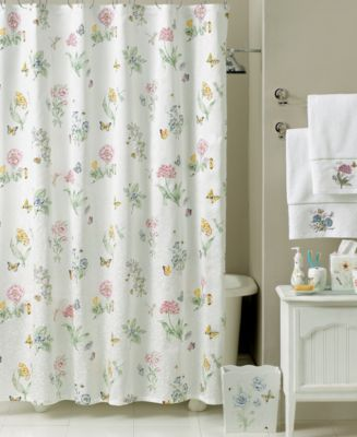 "Lenox ""Butterfly Meadow"" Shower Curtain Bath Collection Bathroom"