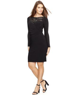 Macy's Ralph Lauren Plus Size Dresses