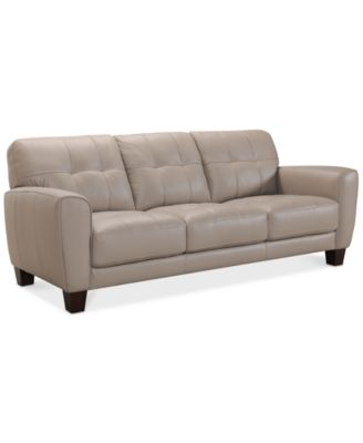 tufted leather sofa cheap sofahusse oder bezug fur ecksofa mit ottomane furniture kaleb 84 created for macy s super buy