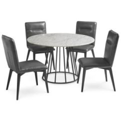 Macys Dining Chairs Hanging Yard Chair Callisto Marble Round Set, 5-pc. (dining Table & 4 Side Chairs), Created For Macy's ...