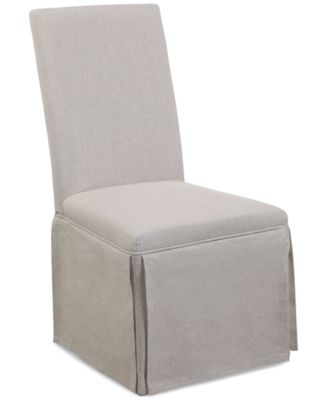 Skirted Parsons Chair Quick Ship  Furniture  Macys