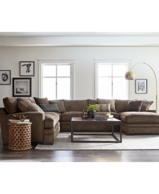 CLOSEOUT Teddy Fabric Sectional Collection Created for