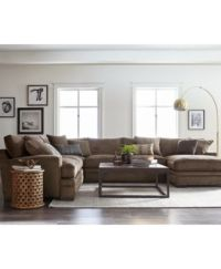 CLOSEOUT! Teddy Fabric Sectional Collection, Created for ...