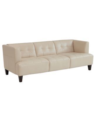 Alessia Leather Sofa  Furniture  Macy's