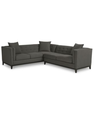 clarke fabric queen sleeper sofa bed modern set designs macys sectional harper 3 piece modular ...