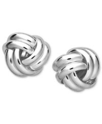 Giani Bernini Sterling Silver Earrings, Double Knot Stud ...