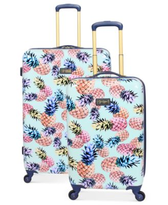 macy's kitchen sets runner mat jessica simpson pineapple hardside spinner luggage ...