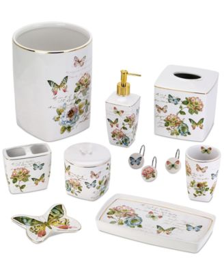 Avanti Butterfly Garden Bath Accessories Collection  Reviews  Bathroom Accessories  Bed