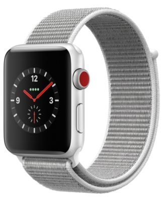 Apple Watch Series 3 GPS  Cellular 42mm Silver Aluminum Case with Seashell Sport Loop