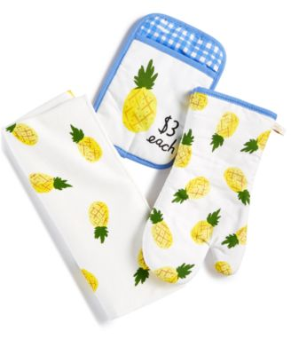 kate spade kitchen islands with chairs new york 3 pc pineapple towel set main image
