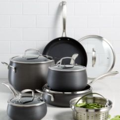 Macy's Kitchen Sets Organization Products Belgique Hard Anodized 11 Pc Cookware Set Created For Macy S Main Image