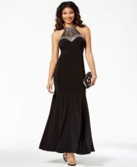 Say Yes to the Prom Juniors' Embellished Halter Gown ...