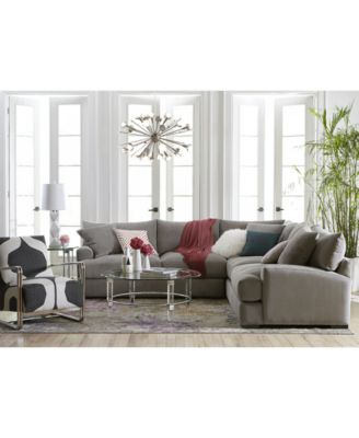 macy s sectional sofa modern black leather with built in light rhyder fabric collection, created for macy's ...