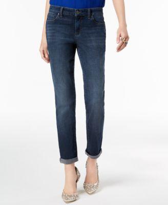curvy fit cuffed boyfriend jeans created for macy   also womens inc international concepts clothing rh macys
