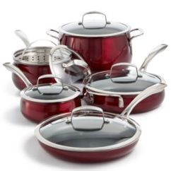Macy's Kitchen Sets Aid Artisan Stand Mixer Belgique Aluminum 11 Pc Cookware Set Created For Macy S Main Image