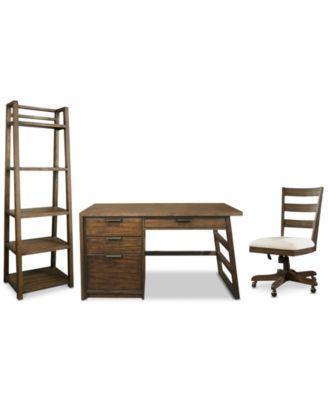 office chair pedestal navy blue dining cushions furniture ridgeway home 3 pc set single main image