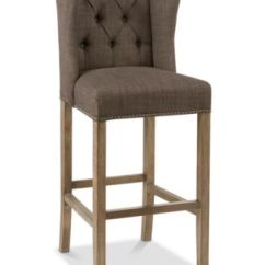 Macy Stool Chair Grey Bubble Club Replica Carriage Co Lance Tufted Wing 30 Bar Quick Ship