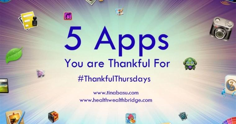 My fav apps #ThankfulThursday