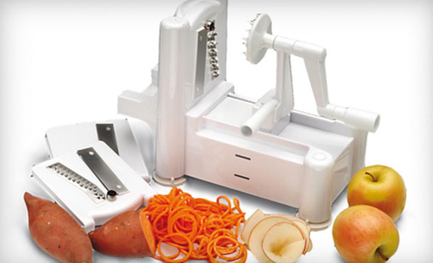 Vegetarian recipes lotus in lacuna - Paderno world cuisine spiral vegetable slicer ...