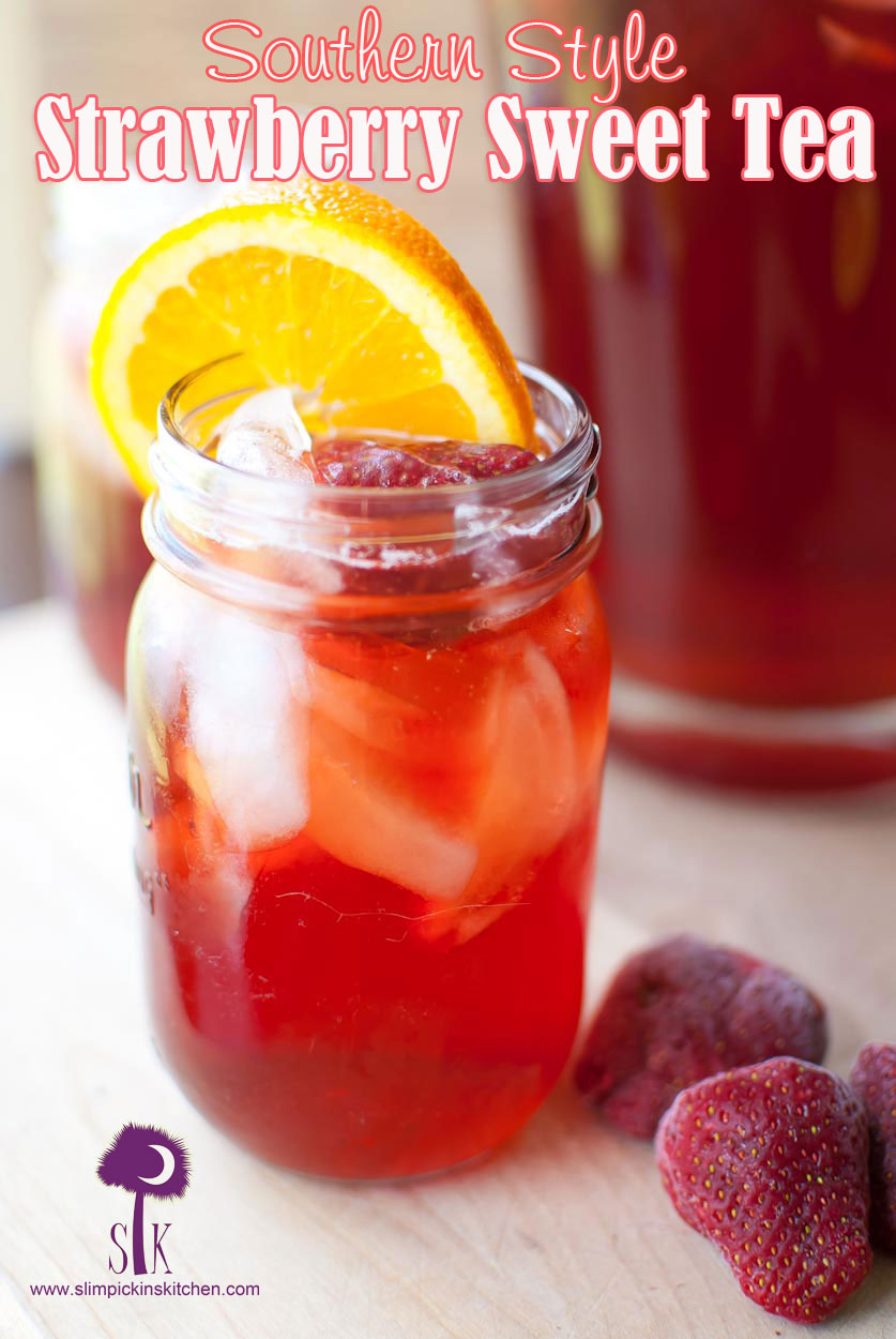 Southern Style Strawberry Sweet Tea  Strawberry Tea Recipe