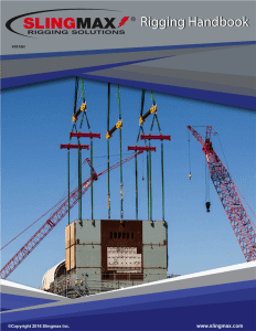 Rigging Handbook  1200 each bulk pricing available  Slingmax Rigging Solutions  Official