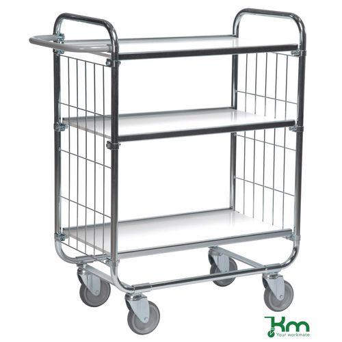 Konga order picking trolleys with adjustable shelves and