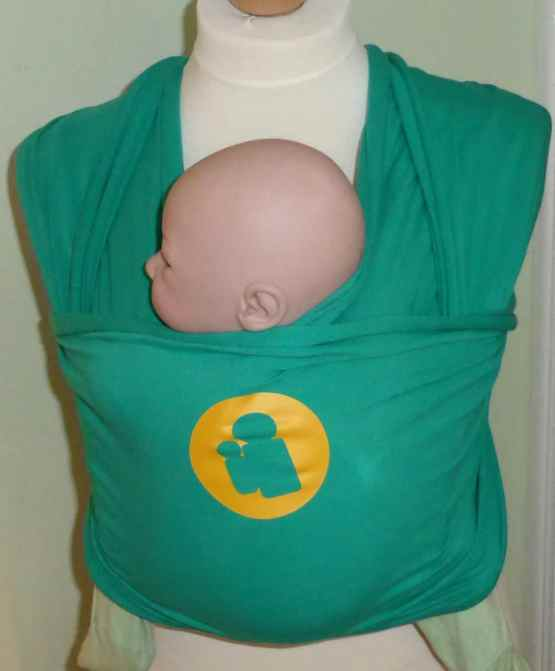 green-stretchy-baby-wrap