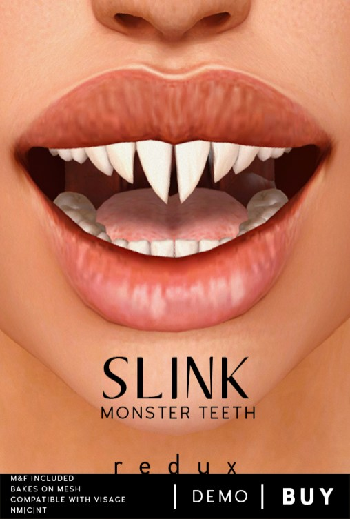 Slink Monster Teeth Poster