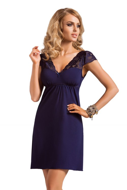 648193 big - DONNA NIGHTDRESS DIANA DARK BLUE Naktinukai