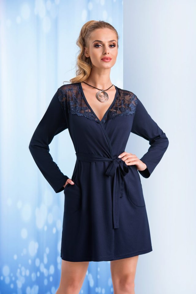 "TAYLOR dark blue. 1068x1600 - DONNA GOWN DRESSING""TAYLOR"" Chalatas"