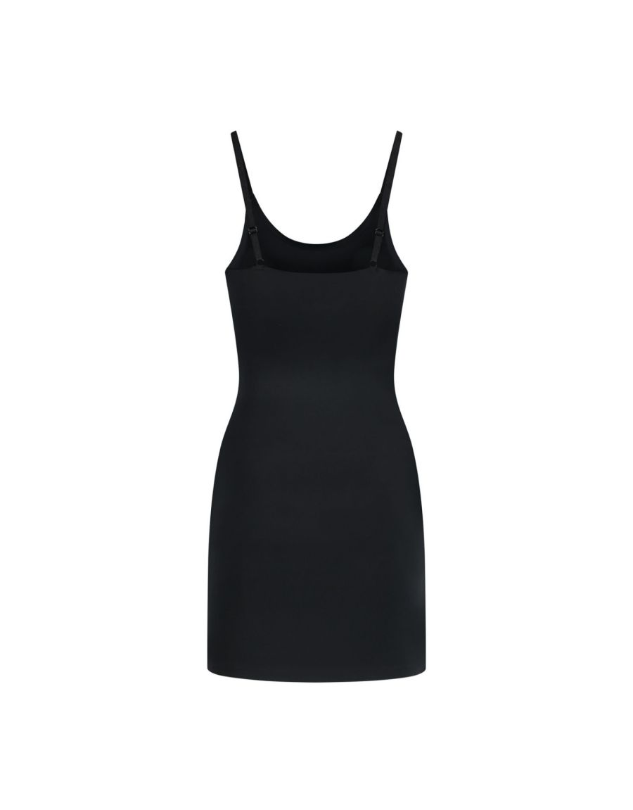 invisible singlet dress black back product - Bye Bra Invisible Singlet Dress – Black