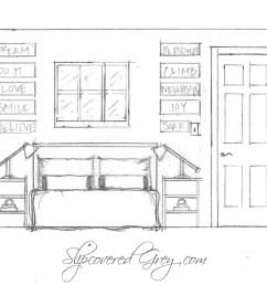 elevation floor plan pinit teen room [ 2327 x 1735 Pixel ]