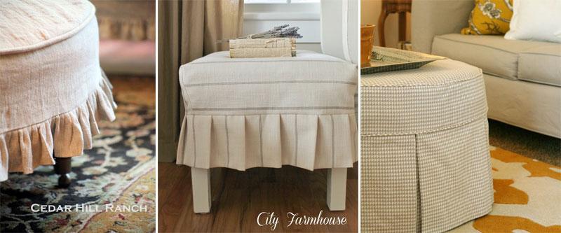 Custom Ottoman Slipcover Ideas