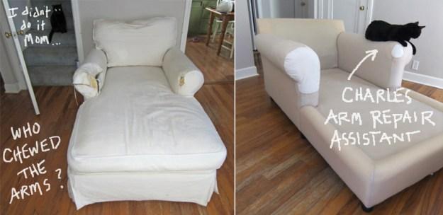 Chaise Slipcover by Karen Powell