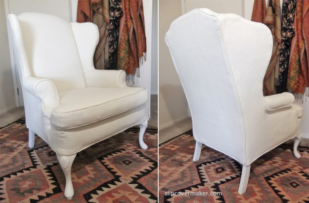 Matelasse Wingback Slipcover by Slipcovermaker.com