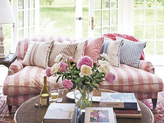Awning Stripe Slipcover Inspiration