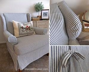 Ticking Slipcover by Karen Powell