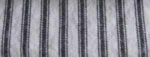 Covington Woven Ticking Black